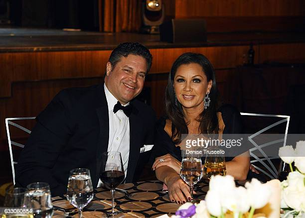 Jim Skrip and Vanessa Williams attend the Nevada Ballet Theatre's 2017 Woman of the Year award at the Aria Resort Casino on January 28 2017 in Las...