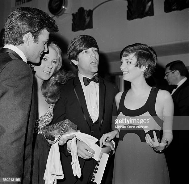 Jim Stacy, Joanna Pettet, Jon Peters, and actress Lesley Ann Warren attend an event in Los Angeles,CA.