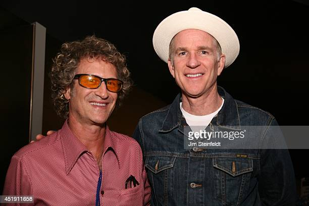 Jim Steinfeldt winner of the best Music Video and Matthew Modine winner of the best App pose for a portrait at the New Media Film Festival at the...