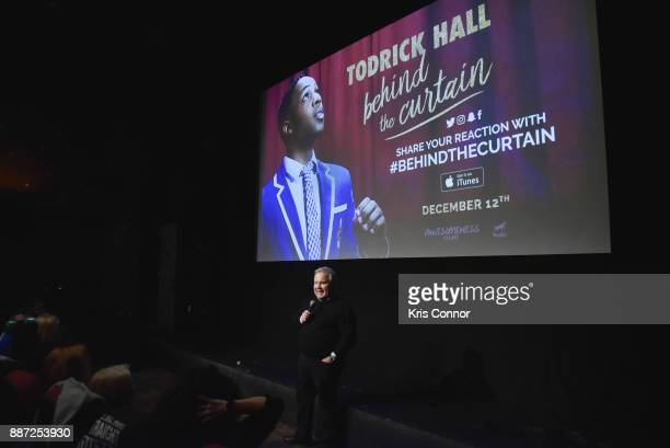 Jim Stephens speaks during the 'Behind The Curtain Todrick Hall' screening at IFC Center on December 6 2017 in New York City