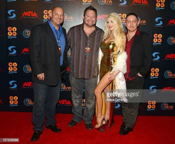 Jim Strzalkowski Courtney Stodden and Doug Hutchison attend the Muay Thai in America In Honor Of The King Celebrity VIP Event at Raleigh Studios on...