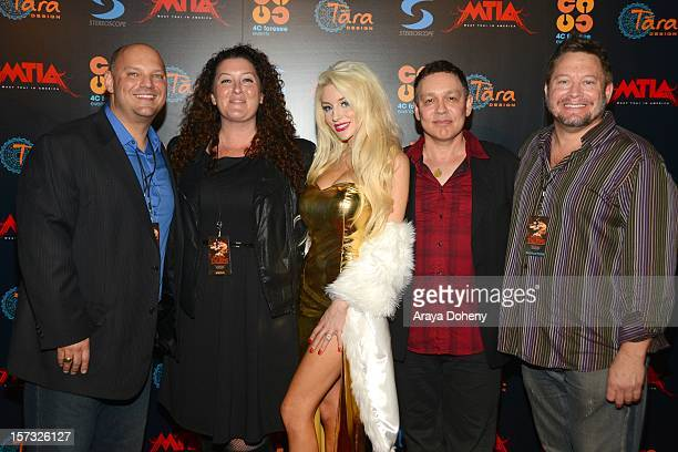 Jim Strzalkowski Shannon Powers Courtney Stodden and Doug Hutchison attend the Muay Thai in America In Honor Of The King Celebrity VIP Event at...