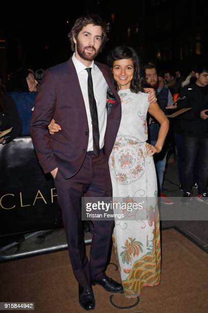 Jim Sturgess and Dina Mousawi attend the Evening Standard British Film Awards at Claridges Hotel on February 8 2018 in London England