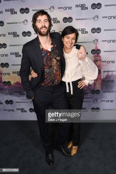 Jim Sturgess and Dina Mousawi attend the Hard Sun Premiere at BFI Southbank on November 27 2017 in London England