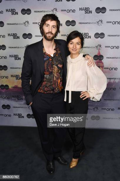 "Jim Sturgess and Dina Mousawi attend the ""Hard Sun"" Premiere at BFI Southbank on November 27, 2017 in London, England."