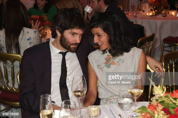 Jim Sturgess and Dina Mousawi attend the London Evening Standard British Film Awards 2018 at Claridge's Hotel on February 8, 2018 in London, England.