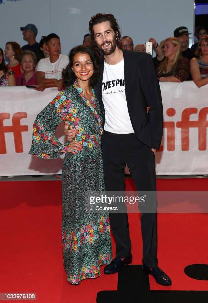 Jim Sturgess and Dina Mousawi attend the premiere of Jeremiah Terminator LeRoy at Roy Thomson Hall on September 15 2018 in Toronto Canada