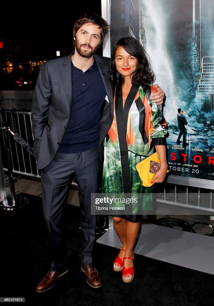 Jim Sturgess and Dina Mousawi attend the premiere of Warner Bros. Pictures 'Geostorm' at TCL Chinese Theatre on October 16, 2017 in Hollywood, California.