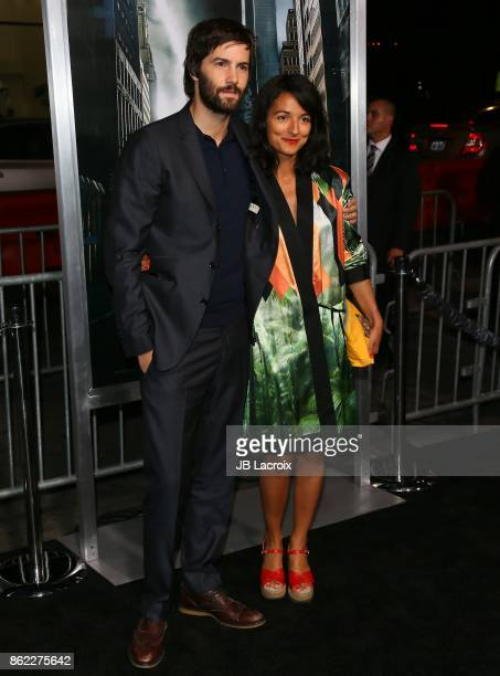 Jim Sturgess and Dina Mousawi attend the premiere of Warner Bros. Pictures' 'Geostorm' on October 16, 2017 in Hollywood, California.