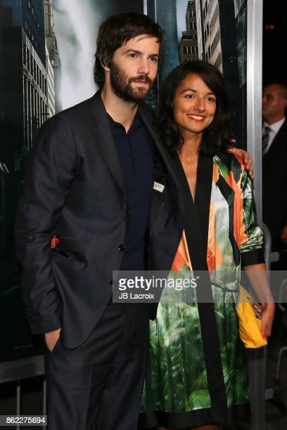 Jim Sturgess and Dina Mousawi attend the premiere of Warner Bros Pictures' 'Geostorm' on October 16 2017 in Hollywood California