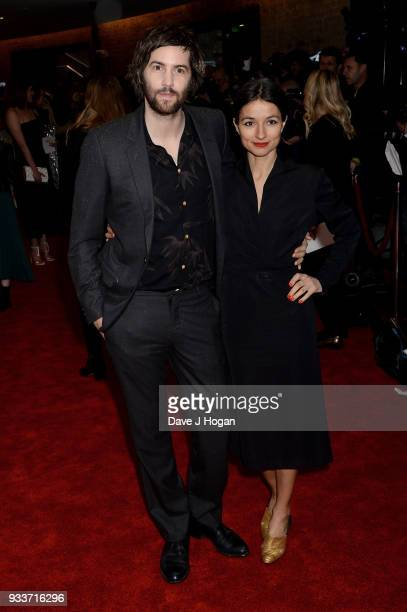 Jim Sturgess and Dina Mousawi attend the Rakuten TV EMPIRE Awards 2018 at The Roundhouse on March 18, 2018 in London, England.