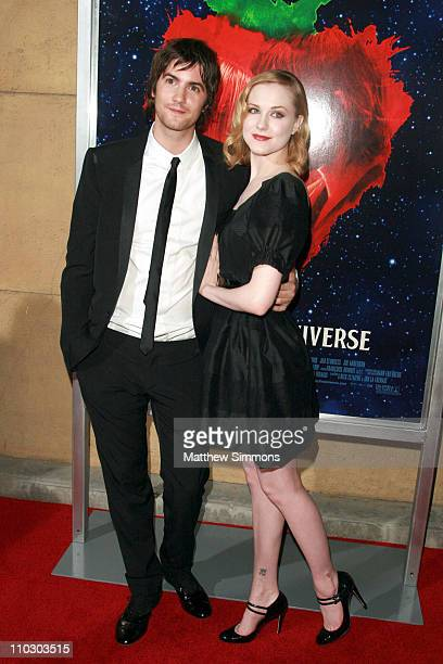 Jim Sturgess and Evan Rachel Wood arrives to a screening of 'Across the Universe' at the Egyptian theatre on September 18 2007 in Hollywood California