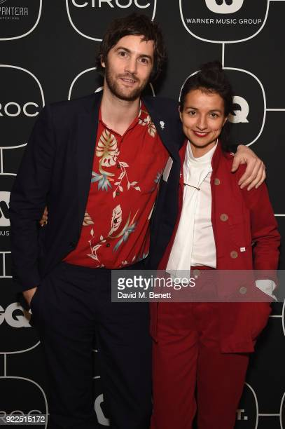 Jim Sturgess and guest attend the Brits Awards 2018 After Party hosted by Warner Music Group Ciroc and British GQ at Freemasons Hall on February 21...