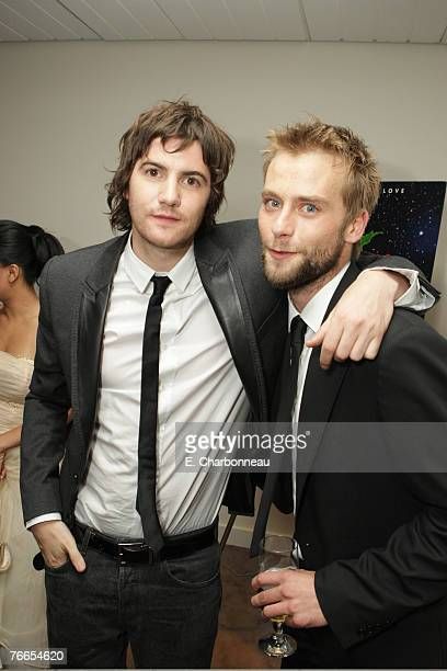 TORONTO CANADA SEPTEMBER 10 Jim Sturgess and Joe Anderson at the Gala Screening of Sony Pictures Across The Universe during the 2007 Toronto...