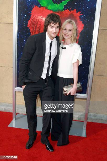 Jim Sturgess and Kate Bosworth arrives to a screening of 'Across the Universe' at the Egyptian theatre on September 18 2007 in Hollywood California