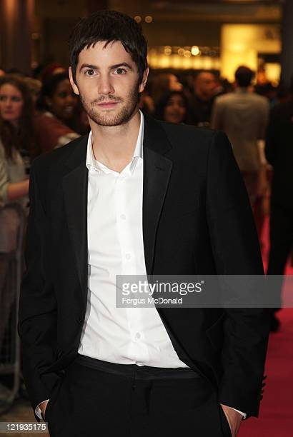 """Jim Sturgess attends the European premiere of """"One Day"""" at The Vue Westfield on August 23, 2011 in London, England."""