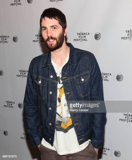 Jim Sturgess attends the screening of Electric Slide during the 2014 Tribeca Film Festival at Chelsea Bow Tie Cinemas on April 22 2014 in New York...