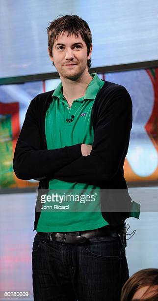 """Jim Sturgess of the movie """"21"""" visits on TRL at MTV Studios in Times Square on March 17, 2008 in New York City."""