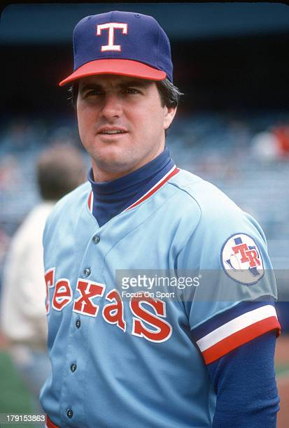 Jim Sundberg of the Texas Rangers looks into the camera for this portrait prior to the start of a Major League Baseball game against the New York...