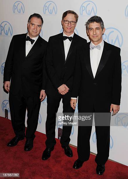 Jim Taylor Jim Burke and Alexander Payne attend the 23rd Annual Producers Guild Awards at The Beverly Hilton hotel on January 21 2012 in Beverly...