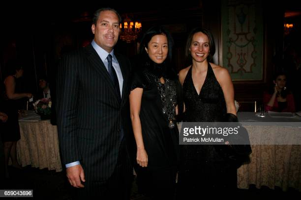 Jim Taylor Vera Wang and Kim Taylor attend 2009 commit to WIN annual benefit dinner honoring PAMELA FIORI at The Pierre on April 28 2009 in New York...