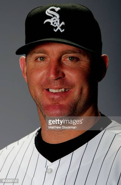 Jim Thome of the Chicago White Sox poses for a portrait during photo day at Tucson Electric Park in Tucson Arizona on February 25 2008