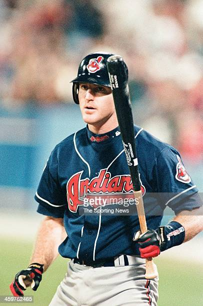 Jim Thome of the Cleveland Indians during Game Two of the World Series against the Atlanta Braves on October 22 1995 at AtlantaFulton County Stadium...