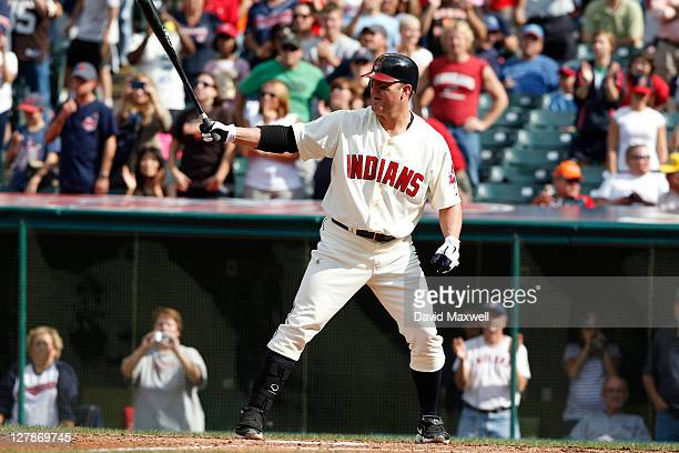 Jim Thome of the Cleveland Indians pinch hits against the Minnesota Twins during the eighth inning of their game on September 25 2011 at Progressive...