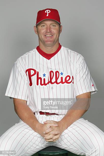 Jim Thome of the Philadelphia Phillies poses for a portrait during photo day at Bright House Networks Field on February 24, 2005 in Clearwater,...