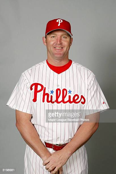 Jim Thome of the Philadelphia Phillies poses for a portrait on February 27 2004 in Clearwater Florida