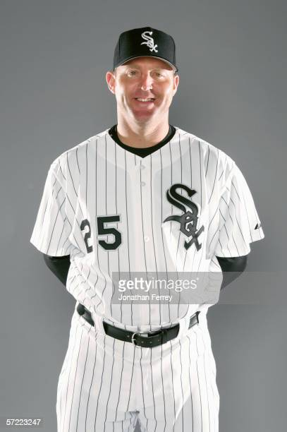 Jim Thome poses for a portrait during the Chicago White Sox Photo Day on February 26 2006 at Tuscon Electric Park in Tucson Arizona