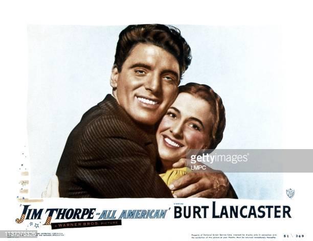 Jim Thorpe Allamerican lobbycard from left Burt Lancaster Phyllis Thaxter 1951