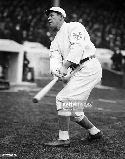 Jim Thorpe of the New York Giants up at bat. Undated photograph.