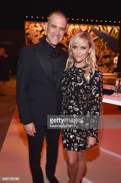 Jim Toth and Actor Reese Witherspoon attend the 2017 Vanity Fair Oscar Party hosted by Graydon Carter at Wallis Annenberg Center for the Performing...