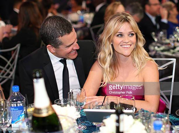 Jim Toth and actress Reese Witherspoon attend the 20th annual Critics' Choice Movie Awards at the Hollywood Palladium on January 15, 2015 in Los...
