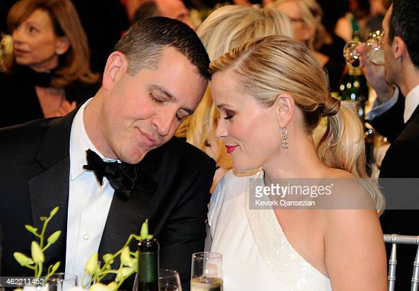 Jim Toth and actress Reese Witherspoon attend the 21st Annual Screen Actors Guild Awards at The Shrine Auditorium on January 25, 2015 in Los Angeles,...