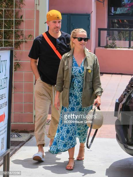 Jim Toth and Reese Witherspoon are seen on August 05, 2018 in Los Angeles, California.