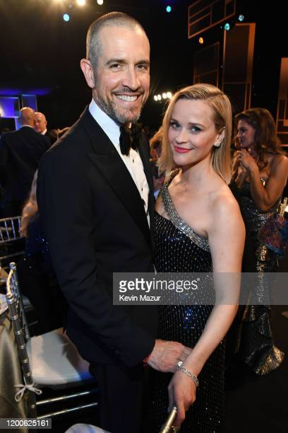 Jim Toth and Reese Witherspoon attend the 26th Annual Screen Actors Guild Awards at The Shrine Auditorium on January 19, 2020 in Los Angeles,...