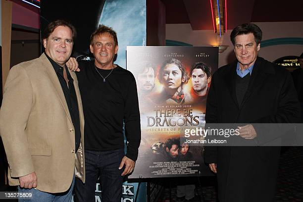 Jim Townsend Michael Dudikoff and guest attend the There Be Dragons Secret Of Fashion Los Angeles Screening on December 7 2011 in Marina del Rey...