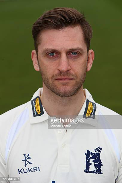 Jim Troughton of Warwickshire poses in the LV County kit during the Warwickshire CCC photocall at Edgbaston on April 3 2014 in Birmingham England