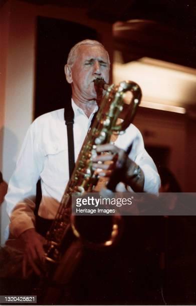 Jim Wallace, All Star Crescendo Swing Band, Bournemouth 2007. Artist Brian Foskett.
