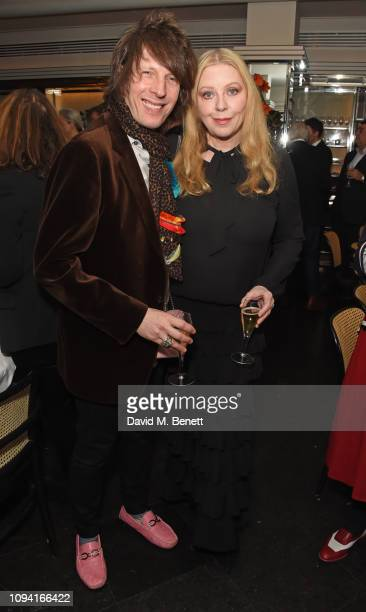 Jim Wallerstein and Bebe Buell attend the launch of John Swannell's photography exhibition at Le Caprice on February 5, 2019 in London, England.