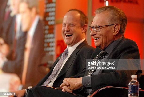 """Jim Walton, president of CNN Worldwide and Larry King, host of """"CNN's Larry King Live"""" 12808_185.jpg"""