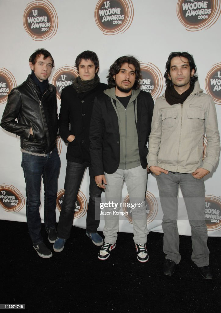 Jim Ward, Keeley Davis, Matt Miller, and Tony Hajjar of the alternative rock band, Sparta