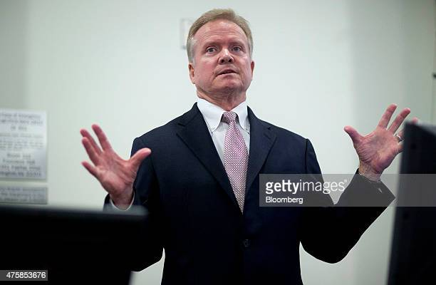 Jim Webb former senator from Virginia answers a question after speaking at the George Mason University School of Policy Government and International...