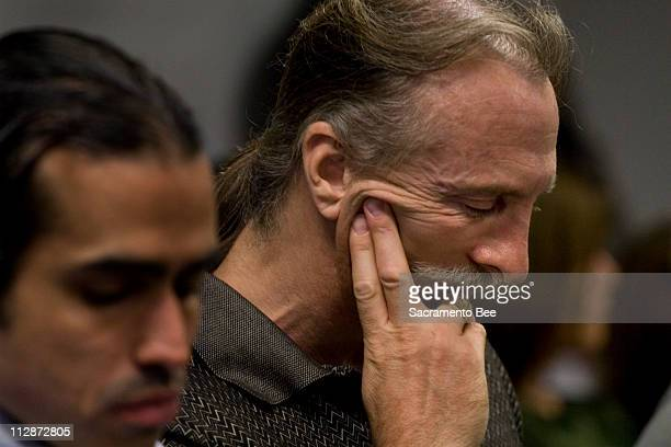 Jim Whitehouse husband of convicted killer Susan Atkins gets emotional during a testimony in support of the pending compassionate release of Atkins...
