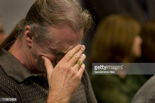 Jim Whitehouse left husband of convicted killer Susan Atkins gets emotional during a testimony in support of the pending compassionate release of...