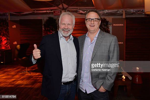 Jim Wilkes and Jason Weinstock attend Red Light Management 2016 Grammy After Party presented by Citi at Mondrian Hotel on February 15 2016 in Los...