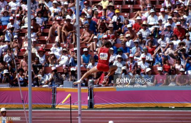 Jim Wooding Men's pole vault decathlon competition Memorial Coliseum at the 1984 Summer Olympics August 8 1984
