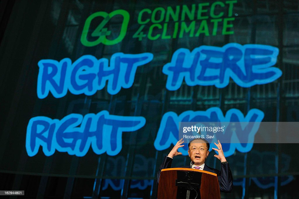 Jim Yong Kim President of the World Bank,speaks at Connect4Climate: Right Here, Right Now at The World Bank on March 1, 2013 in Washington, DC.